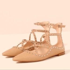 Zara rockstud studded scrappy flat sandals